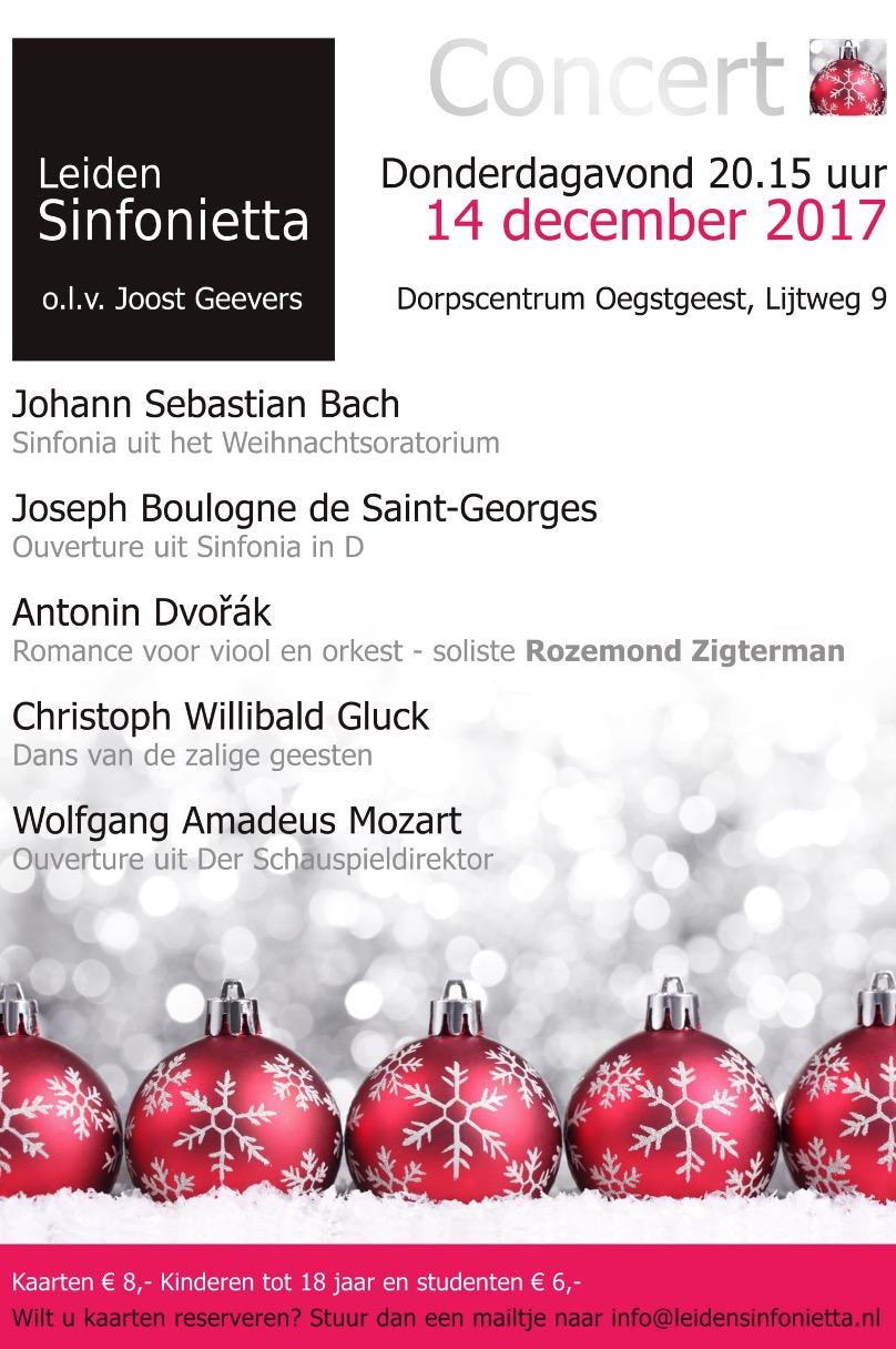 Kerstconcert Leiden Sinfonietta