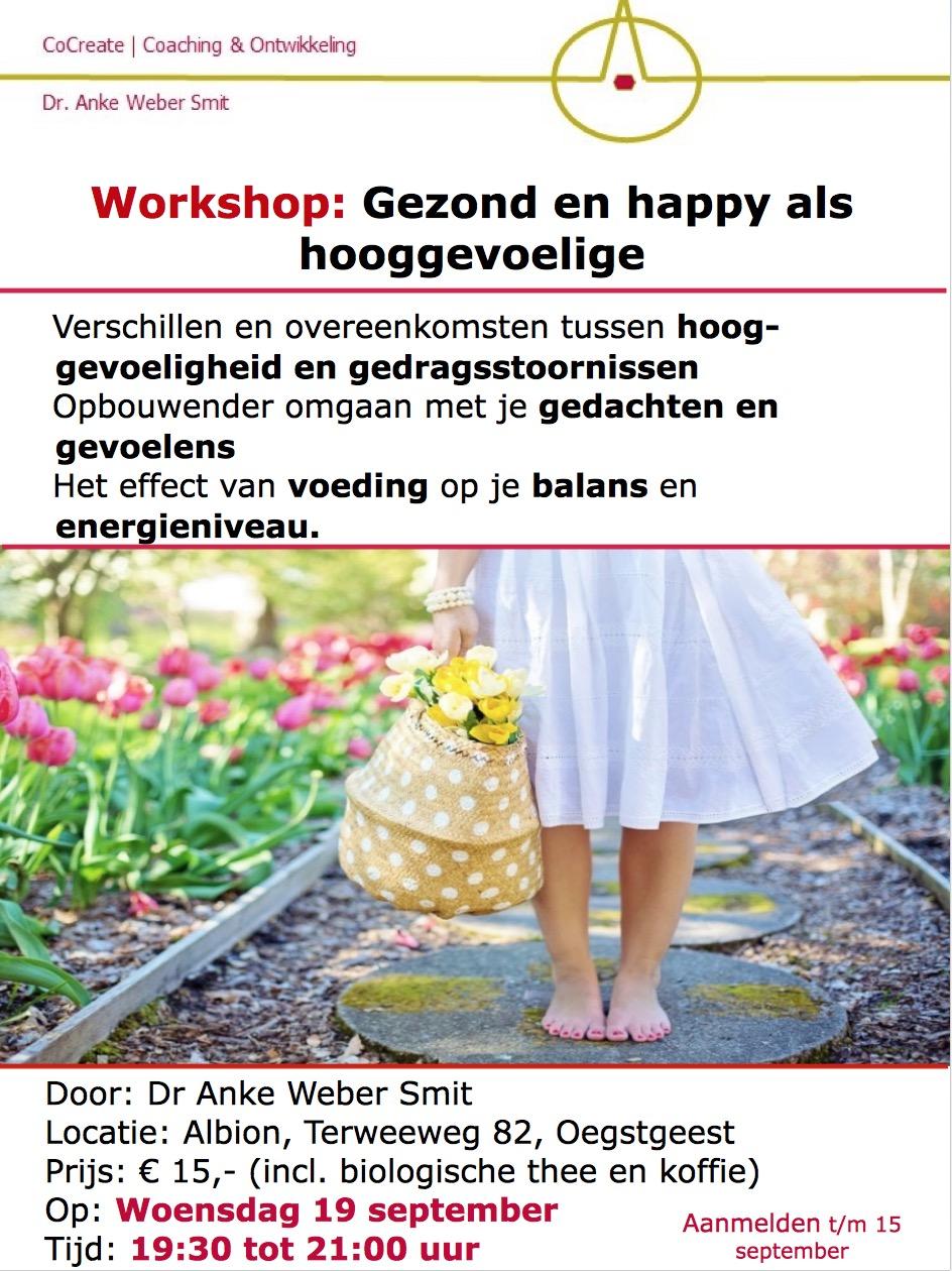 Workshop gezond en happy