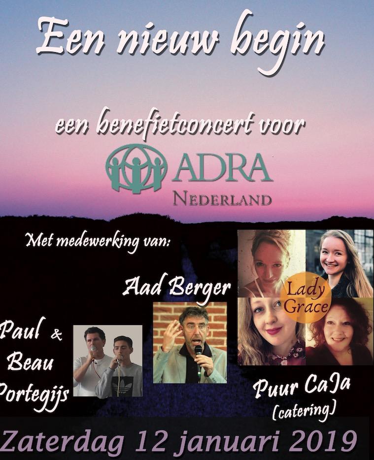 Benefietconcert voor Adra