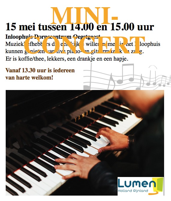 Mini Concert tijdens Inloophuis