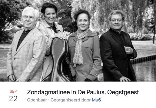 Zondagmatinee met Daniel Quartet