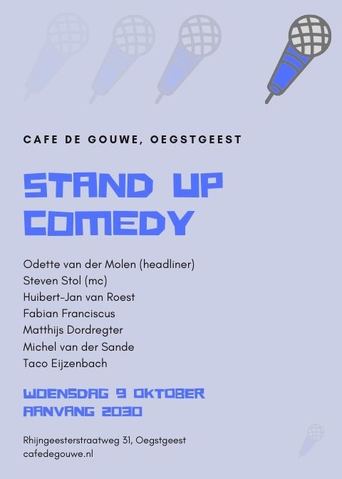 Stand Up Comedy in De Gouwe