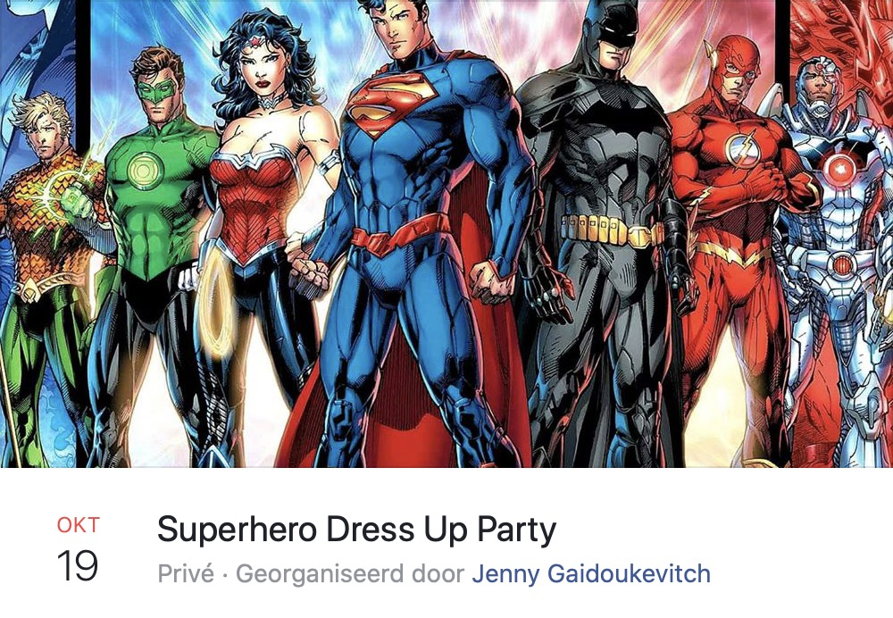 Superhero Dress Up Party