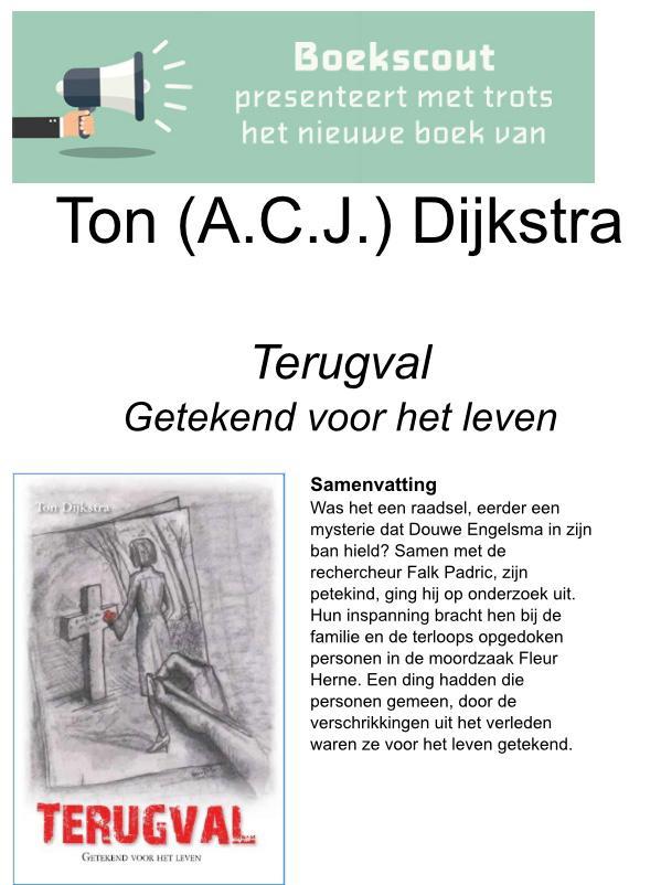 Ton Dijkstra signeert nieuw boek