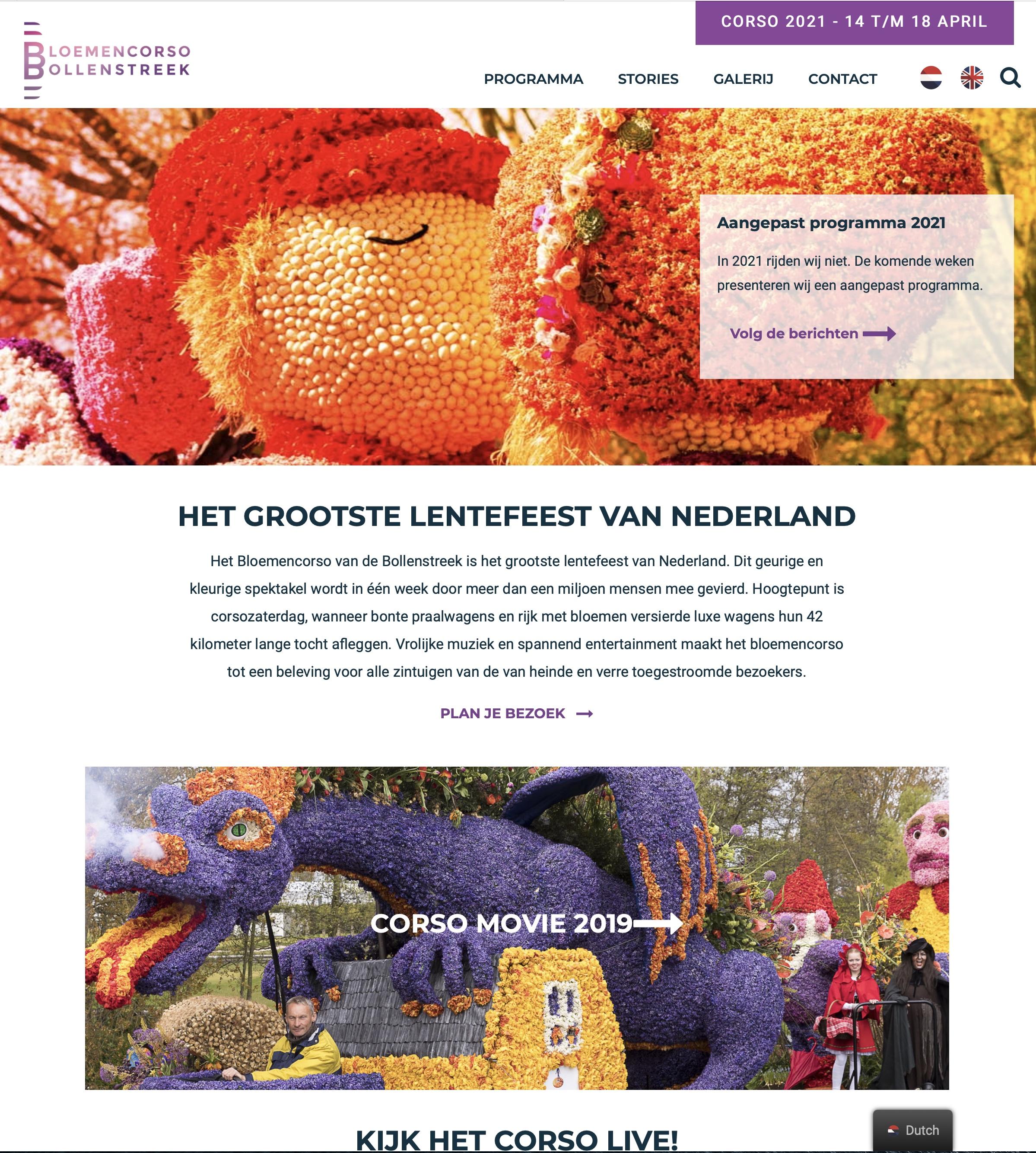 Online bloemencorso-bollenstreek.nl