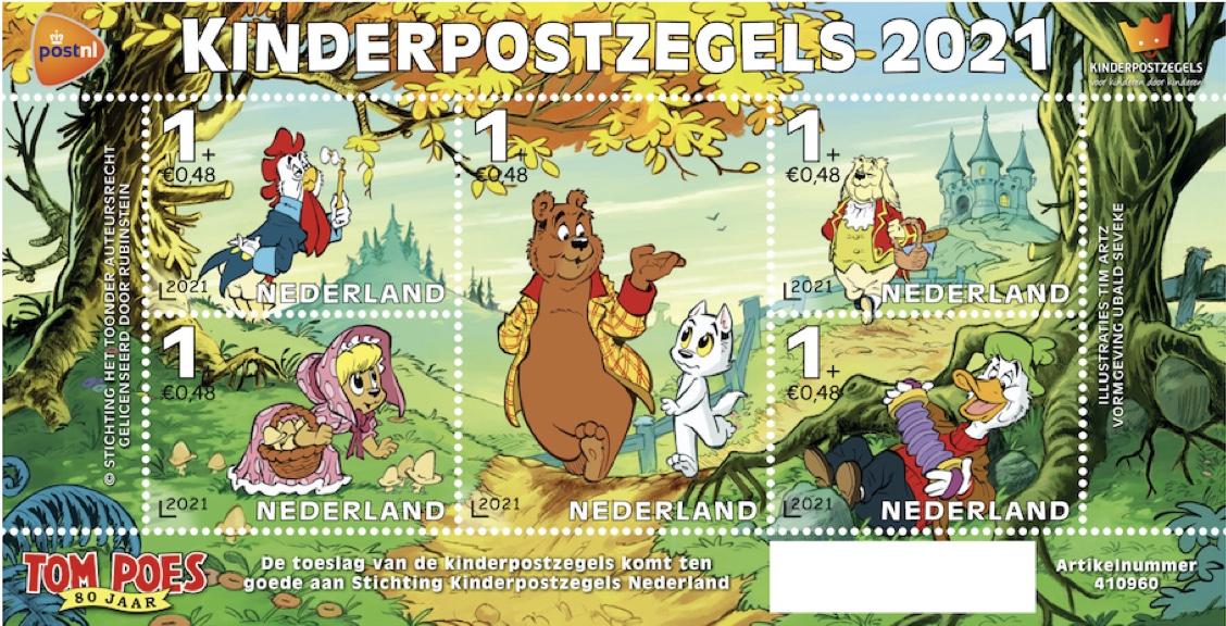 Kinderpostzegels Heer Bommel/Tom Poes