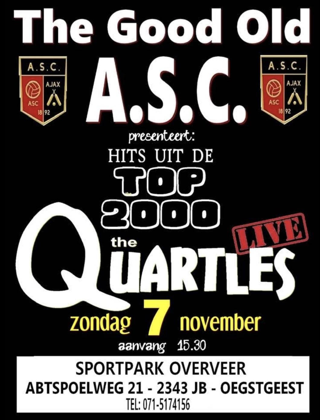 Band The Quartles treedt op bij ASC