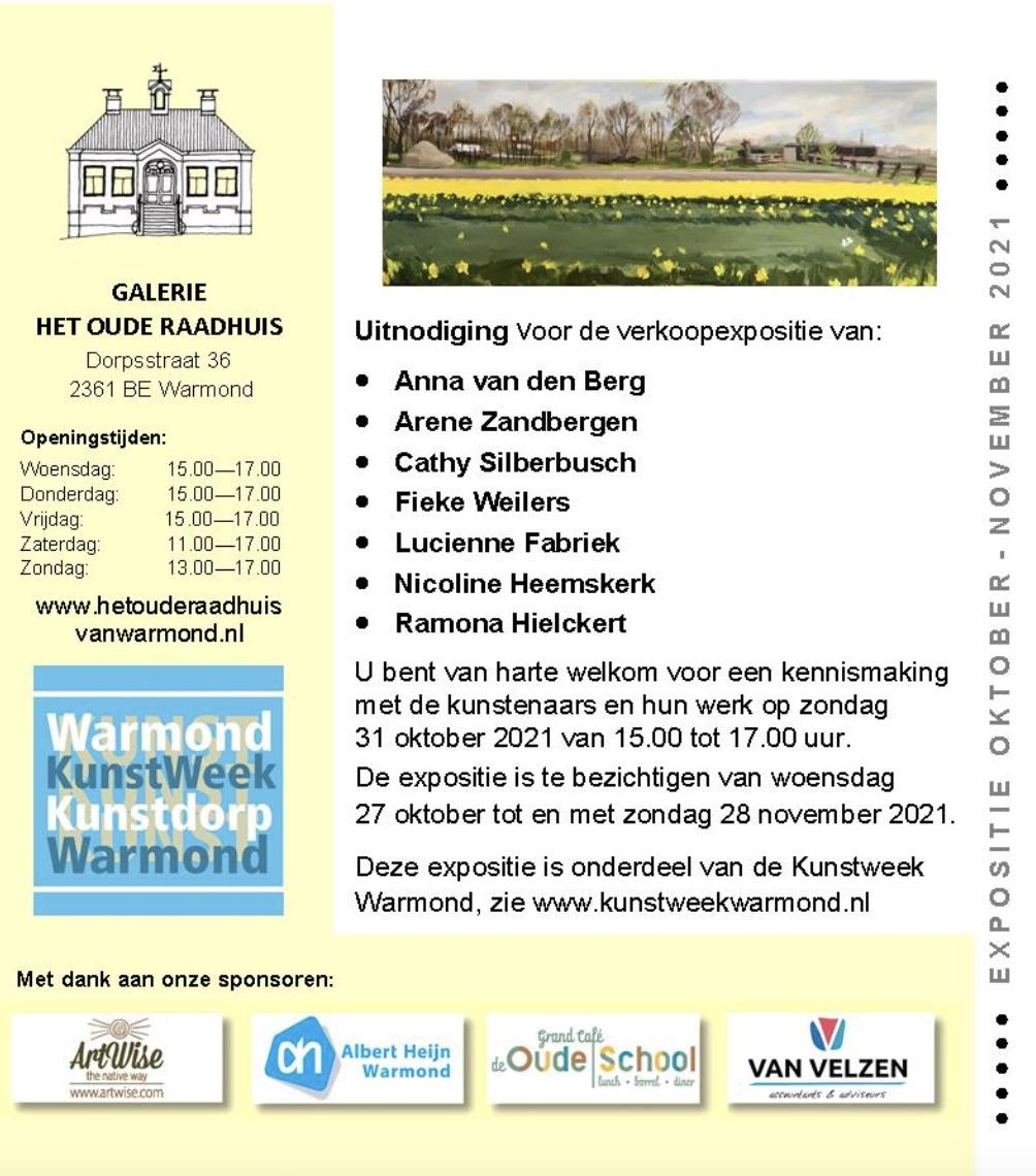Expositie in Oude Raadhuis Warmond t/m 28-11